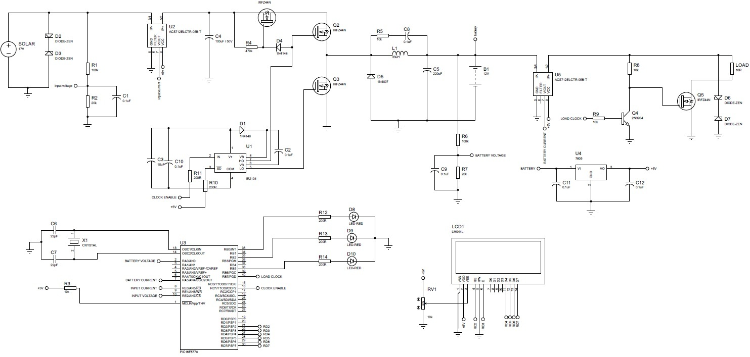 Mppt Based Charge Controller Using Pic Microcontroller Solar Tracker Circuit Diagram