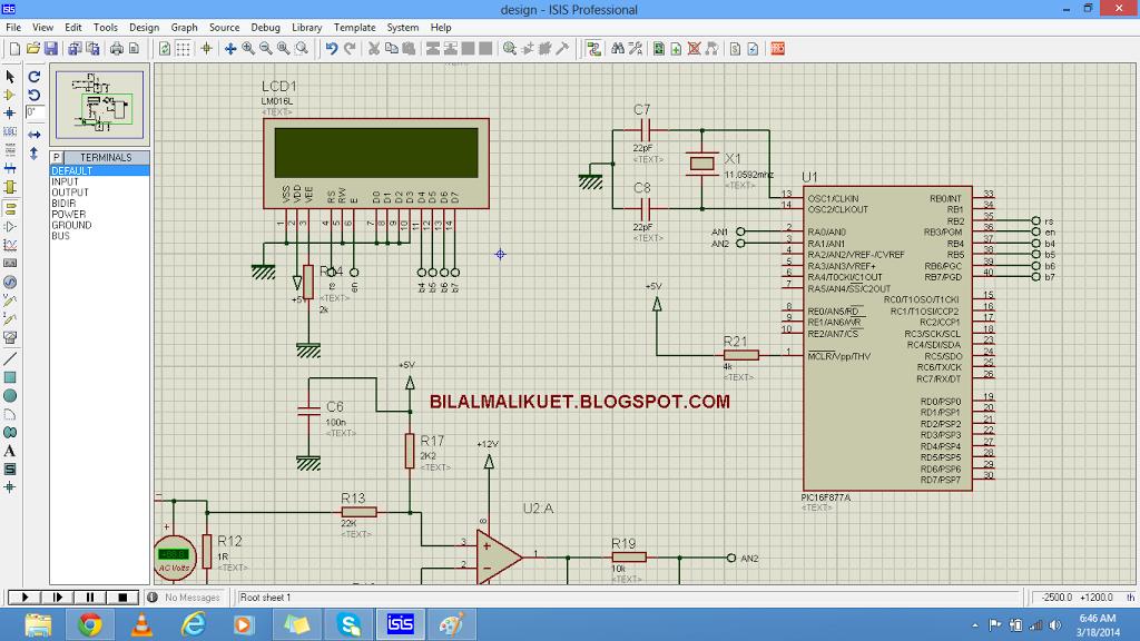 alternating current measurement using pic microcontroller circuit