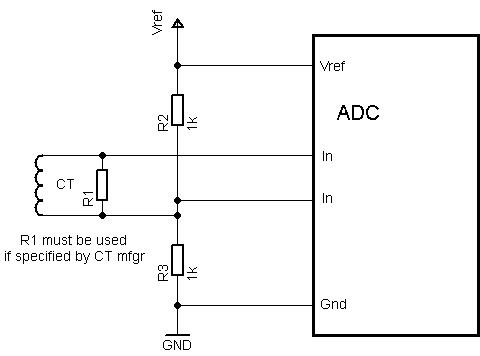 current transformer interfacing circuit