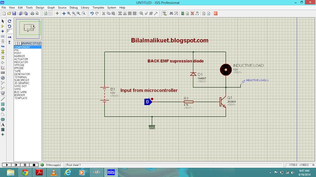Transistor interfacing with microcontroller