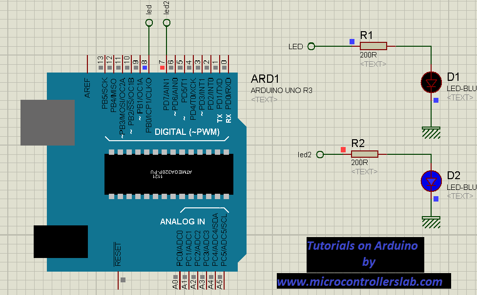 Led blinking with arduino uno r