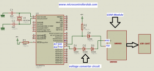 gsm module interfacing with pic microcontrolle