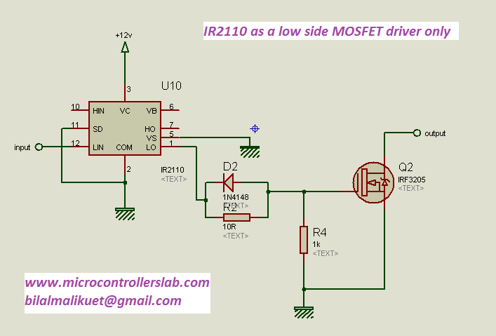 low side MOSFET driver only