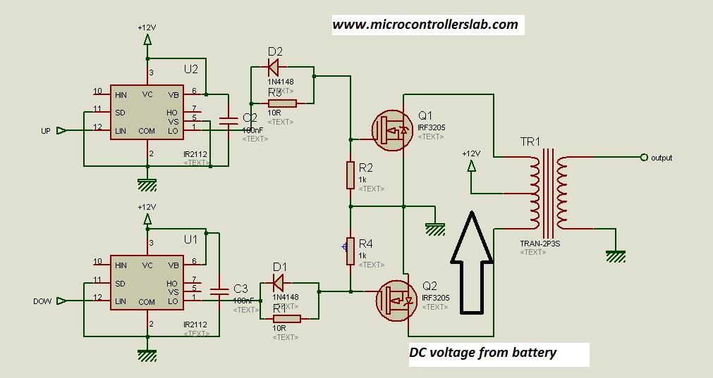 pusl pull transformer circuit diagram