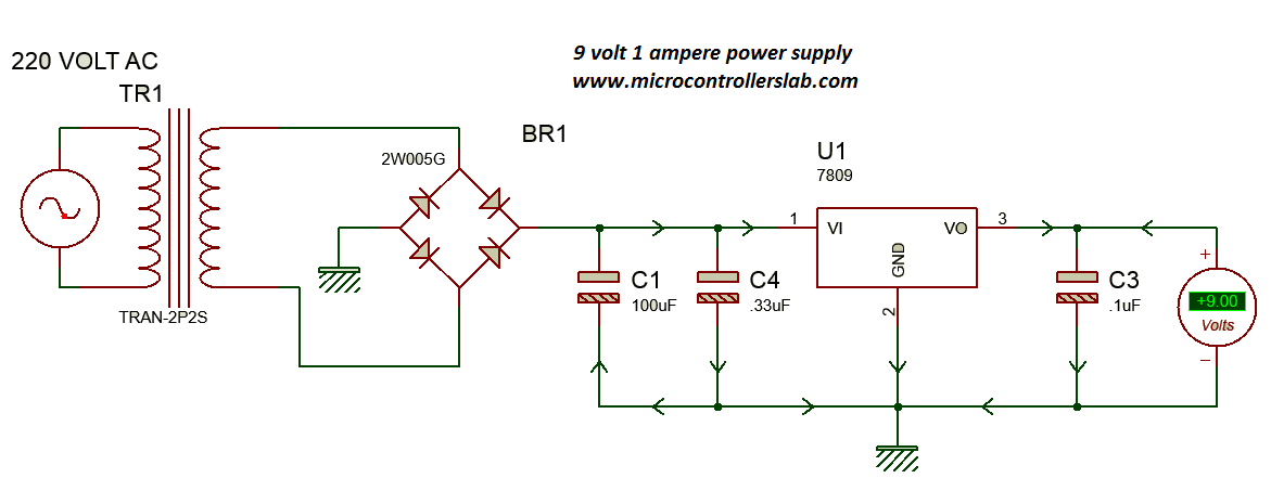 power supply for electronics projectsCircuit That Use Ic Regulator So Well You Can Use Other Ic 78057809 #17