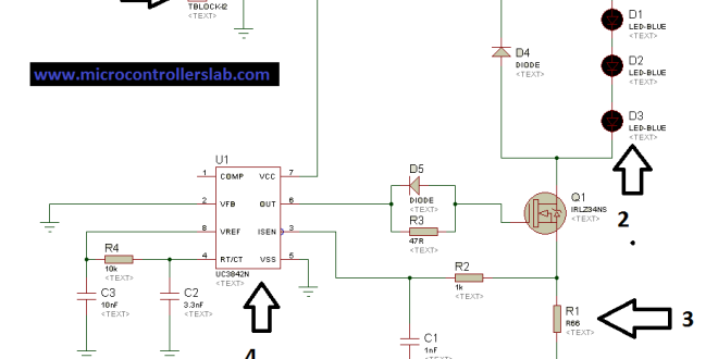 Led Driver Wiring Diagram : Led driver using uc