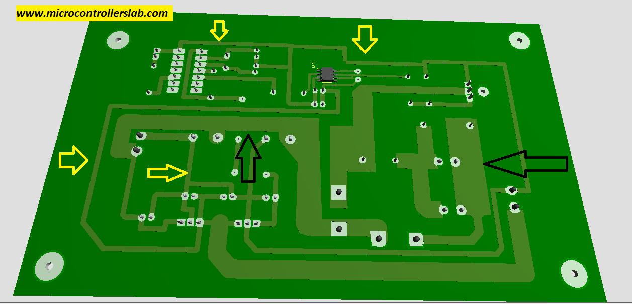 traces of PCB board