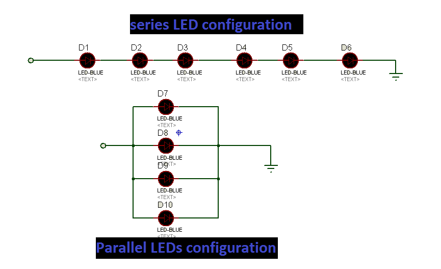 types of LED configuration for LED driver