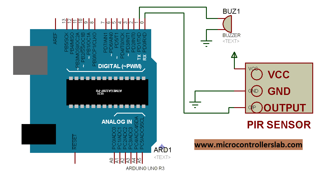 Pir sensor interfacing with arduino circuit diagram of pir sensor interfacing with arduino asfbconference2016