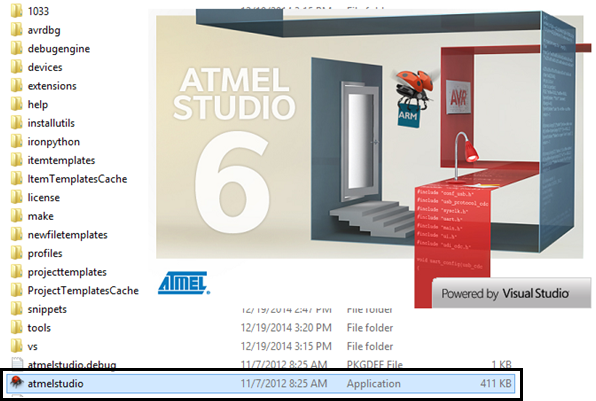 OPEN ATMEL STUDIO
