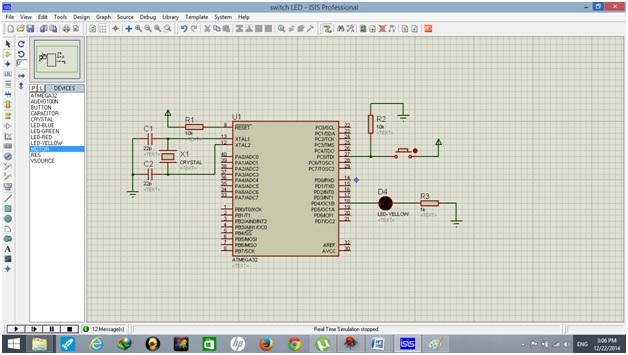 how to use push button with atmega32 avr microcontrollerDiagram Of A Push Button #18