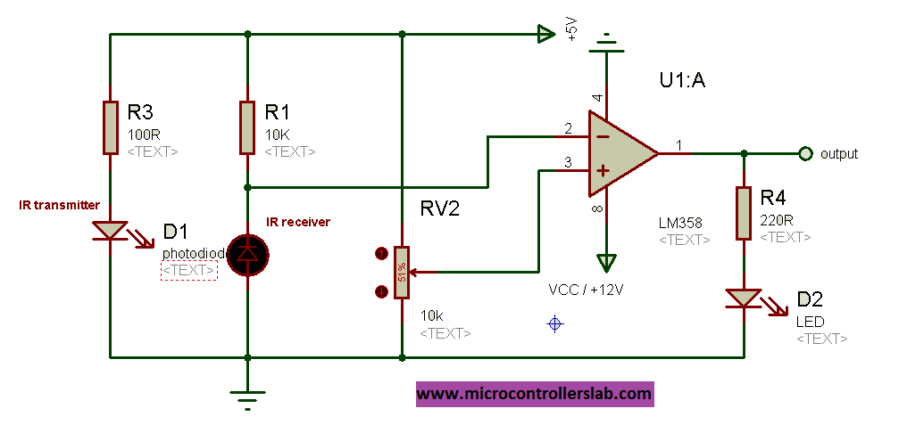 infrared circuit diagram