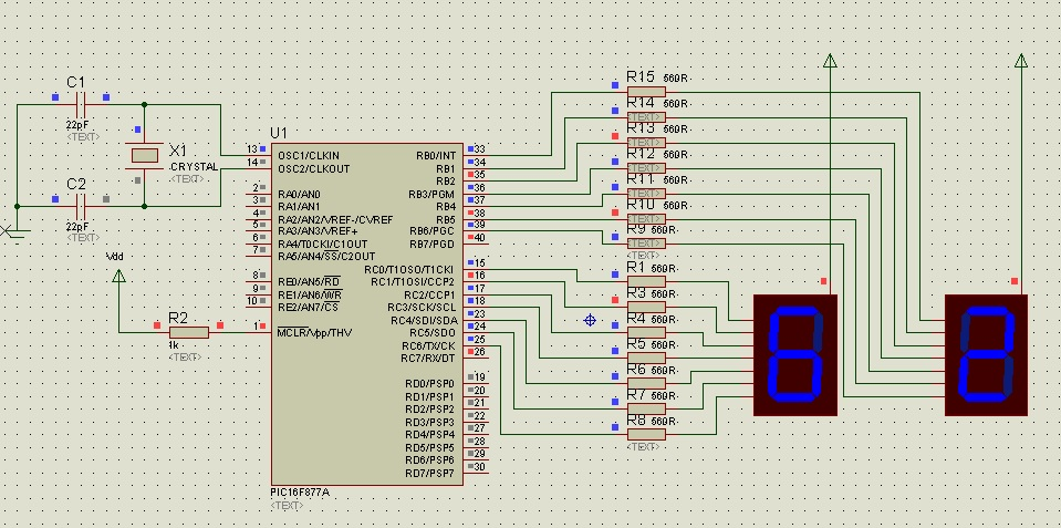 7 Segment Display Interfacing With Pic Microcontroller Examples