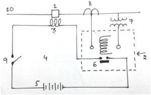 Control circuit diagram of circuit breaker