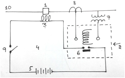 Control circuit diagram of circuit breaker