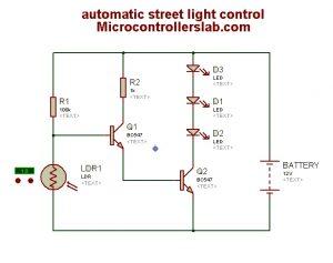 automatic street light control