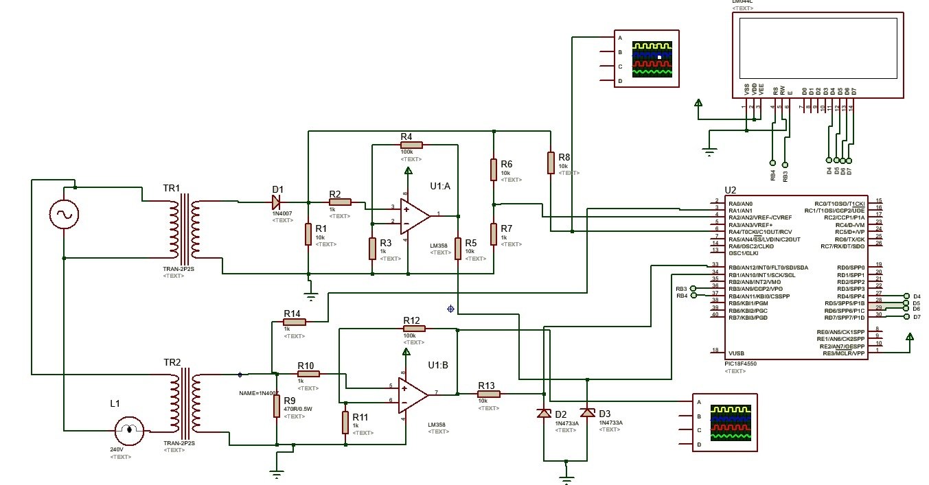 How To Design Digital Ac Watt Meter Using Pic Microcontroller Related Image With Voltmeter Circuit Power Measurement
