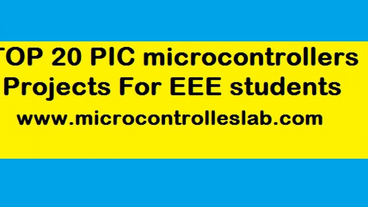 100 Pic Microcontroller Projects With Source Codes