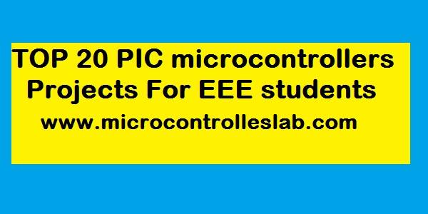 pic microcontroller projects