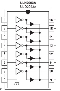 pin configuration of ULN2003