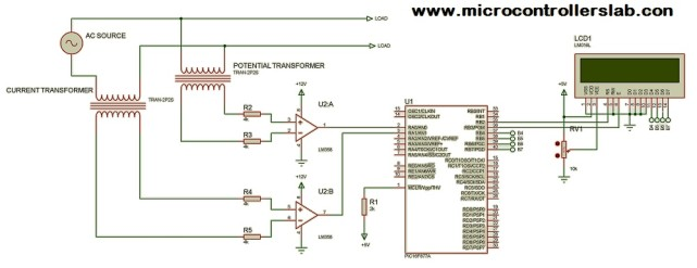 power factor measurement circuit using pic microcontroller