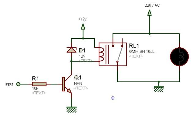 relay driver cricuit using transistor
