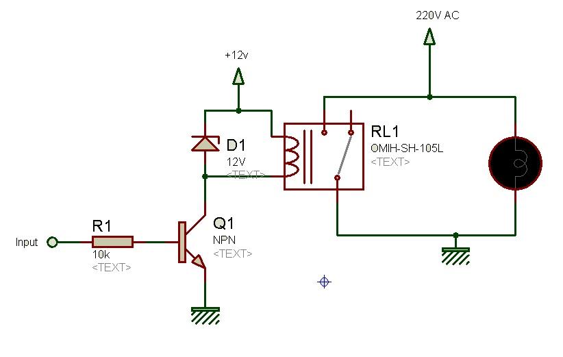 relay circuit diagram with transistor circuit and Insulated Gate Bipolar Transistor NPN Bipolar Transistor