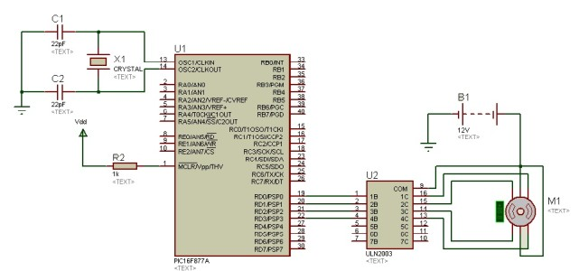stepper motor interfacing with pic microcontroller