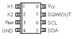 DS1307 pin configuration