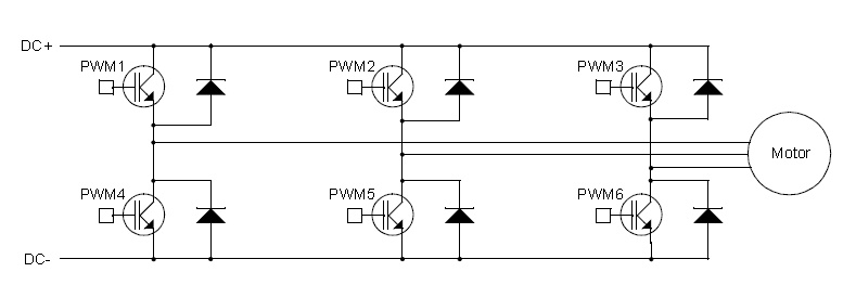 Three phase H bridge