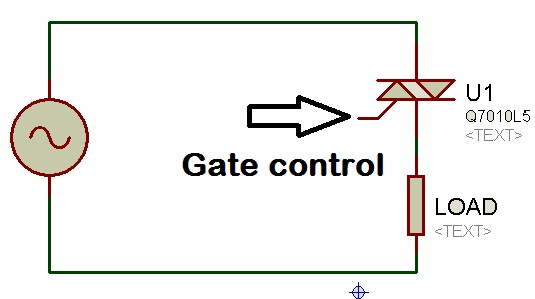 AC power control with thyristor