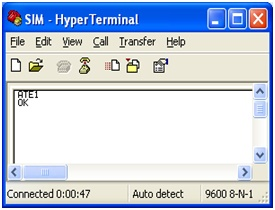 ATE1 Hyper-terminal Demonstration
