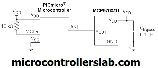MCP9700 interfacing with microcontroller