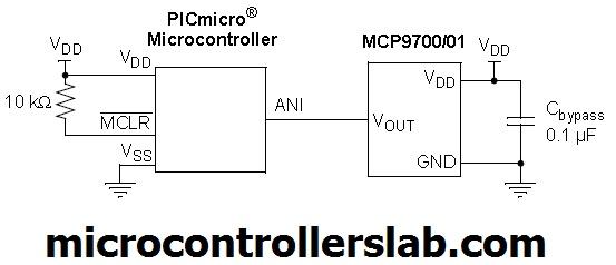 MCP9700 interfacing with microcontroller