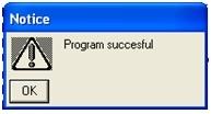 Program successful