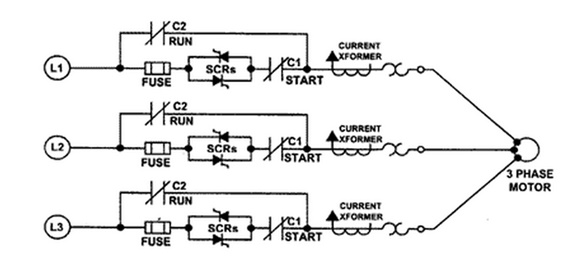 Soft starter types working and circuit using microcontroller for Single phase motor soft starter