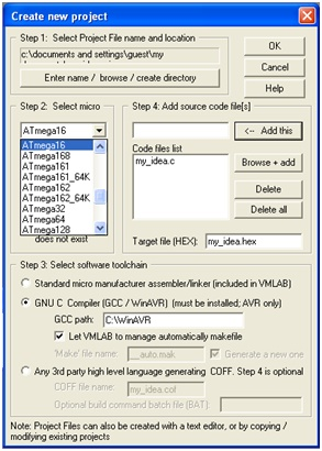 select microcontroller you are using