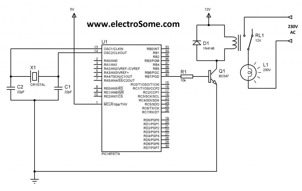 electromechanical relays interfacing circuits with microcontroller