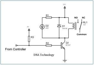 Relay_Driver_Circuit_Using_Single_Transistor