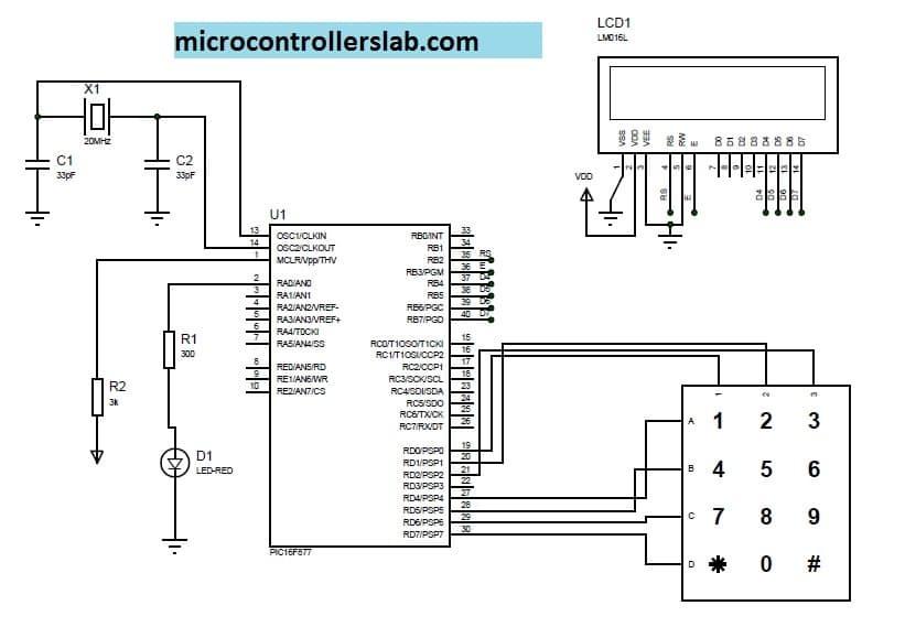 Electronic lock using pic microcontrollers-min
