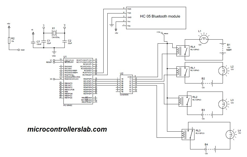 Circuit diagram of microcontroller based home automation for Home automation basics