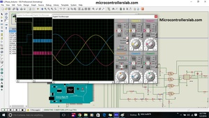 three phase sine wave inverter using Arduino Atmega2560 microcontroller