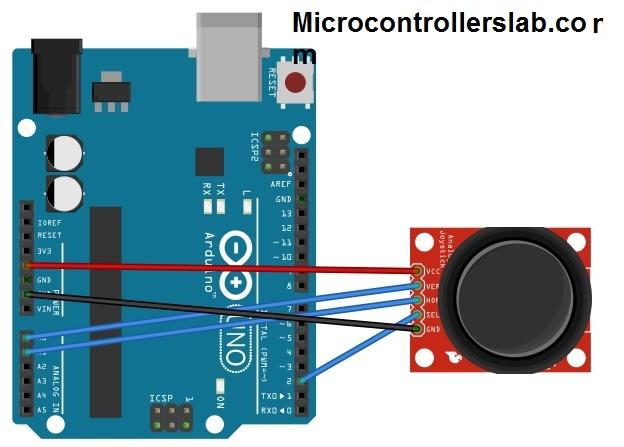 joystick module interfacing with arduino