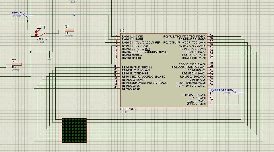 led matrix interfacing with microcontroller