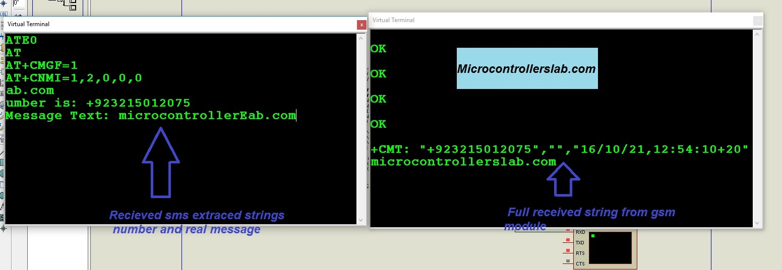 receive sms using gsm and pic microcontroller