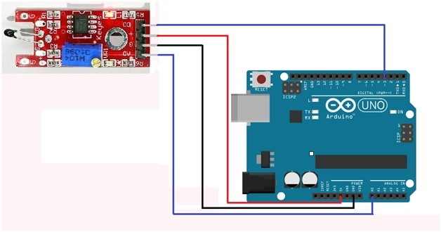 Thermistor module interfacing with arduino