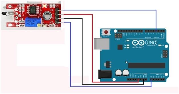 Thermistor module interfacing with arduino