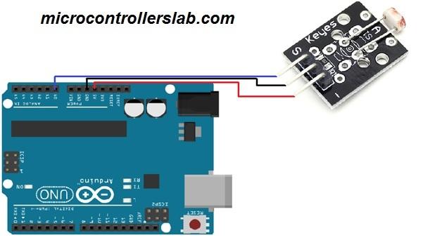 photo resistor interfacing with arduino