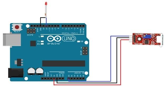 reed-switch-interfacing-with-arduino-analog-pin
