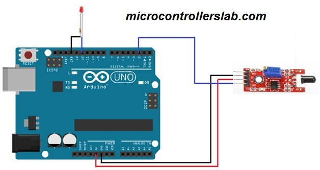 flame sensor interfacing with arduino